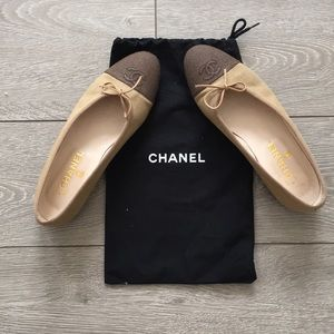 Chanel Canvas Flats, Size 38, Great Condition
